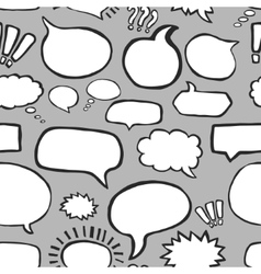 Hand drawn speech bubbles seamless pattern vector