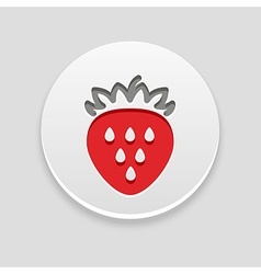 Strawberry icon fruit vector