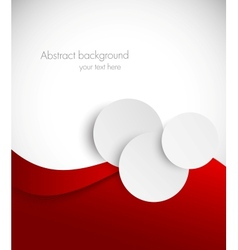 Abstract red brochure vector image vector image