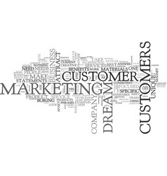 Attract your dream customer text word cloud vector