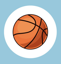 basketball ball equipment icon vector image vector image
