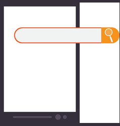 Cellphone and search bar icon vector