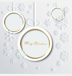 christmas ball made of paper and snowflakes eps10 vector image