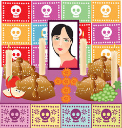 Day of the dead 3 vector