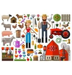 farm farmhouse farmyard logo design vector image