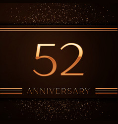 fifty two years anniversary celebration logotype vector image vector image
