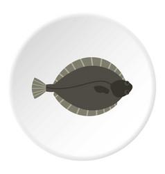Flounder fish icon circle vector