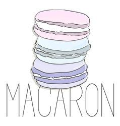 French macarons fashion art image vector