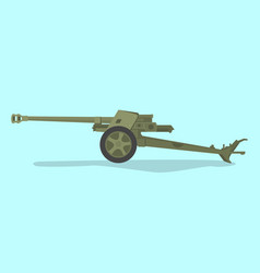 German anti tank ww2 with flat style and green vector
