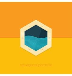 Hexagonal Porthole vector image