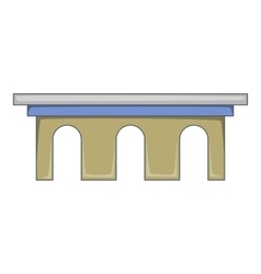Iron bridge icon cartoon style vector
