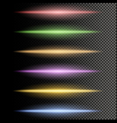 Multicolor glowing particles of light vector