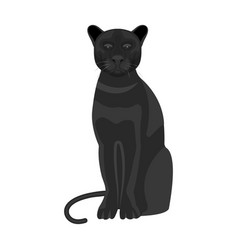 Panther predatory animal pantera wild cat vector