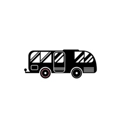 Residential camper icon simple style vector