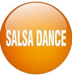 Salsa dance orange round gel isolated push button vector
