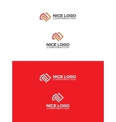 square meter logo vector image vector image