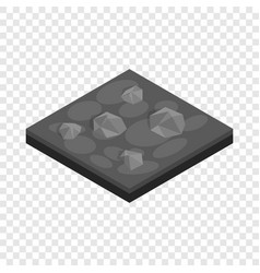 Stones landscape isometric icon vector