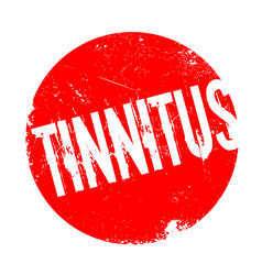 Tinnitus rubber stamp vector