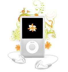 Ipod floral design vector