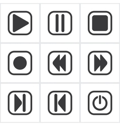 Player buttons vector