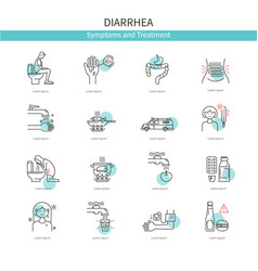 Medical icons diarrhea vector