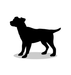 Dog pup pet black silhouette animal vector