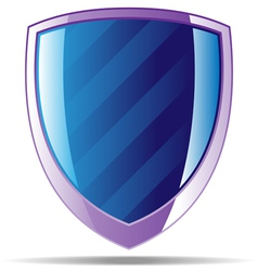Striped badge vector