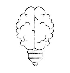 Isolated abstract brain icon vector