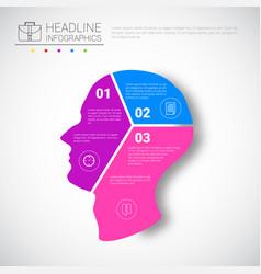 Headline infographic design head steps business vector
