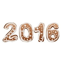 2016 Gingerbread New Year pastries vector image