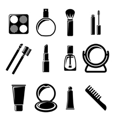 Set of cosmetics icons vector