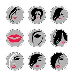 woman hair pics vector image