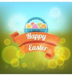 Happy easter on a blurred vector