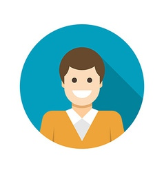 Flat business man user profile avatar icon vector