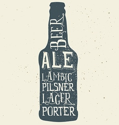 Beer poster print for t-shirts hand lettering vector