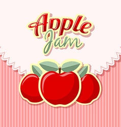 Retro apple jam vector