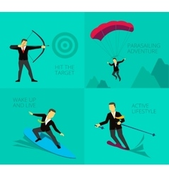Businessman sport activities vector