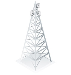 Power tower with satellite dish vector
