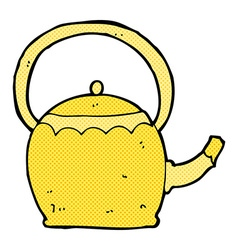 Comic cartoon tea pot vector