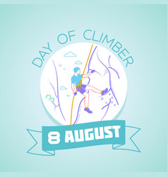 8 august day of climber vector