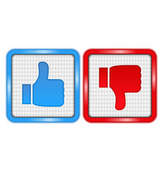 Like and unlike buttons vector