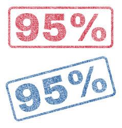 95 percent textile stamps vector