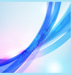 abstract blue wave background for poster flyer vector image