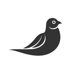 Abstract dove silhouette vector