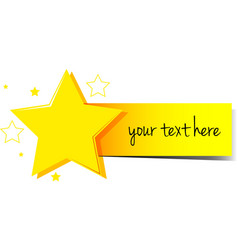 Banner design with stars and yellow tag vector