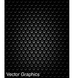 Black speaker grill metal background vector