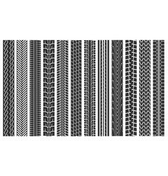 Black tire tracks seamless pattern background vector