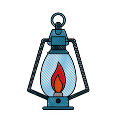 camping lantern light vector image vector image