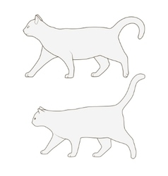 Cat side view scheme silhouette vector
