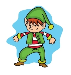 Dance elf christmas character theme vector